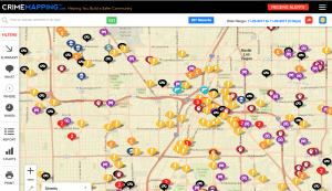 CrimeMapping for Las Vegas