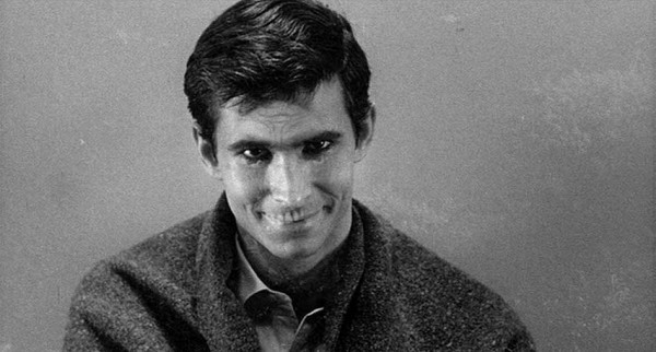 Anthony Perkins as Norman Bates in Alfred Hitchcock's'Psycho.'