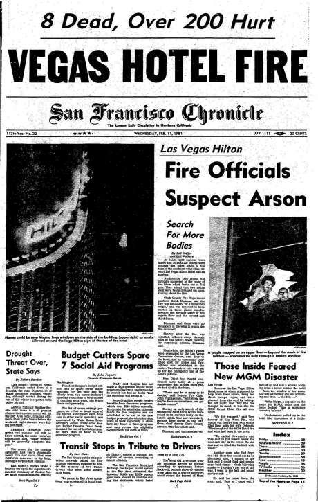 SF Chronicle Front Page