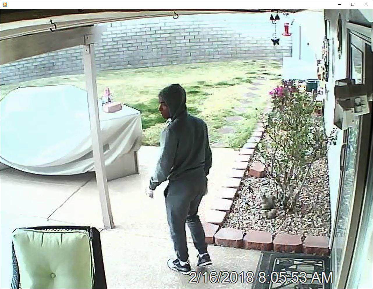 Picture-Detectives Seek To Identify Burglary Suspect